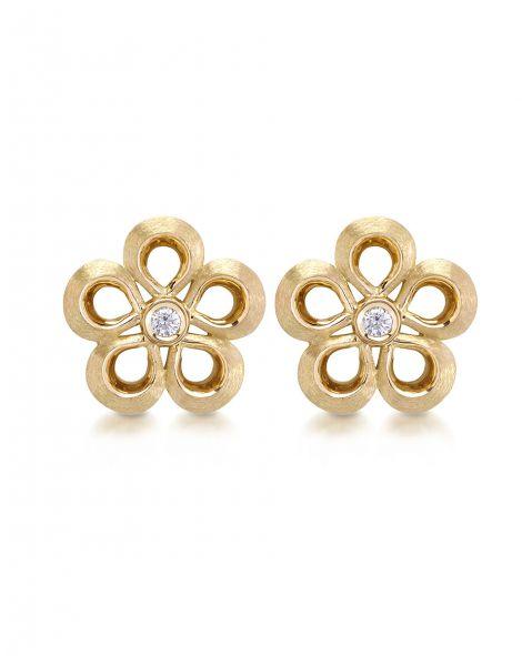 Violetto 5 Leaves Stud Earrings