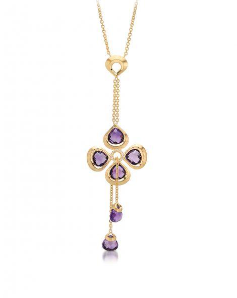 Violetto By Color Tie Necklace