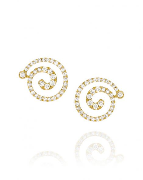 Nautilus Small Spiral Earrings