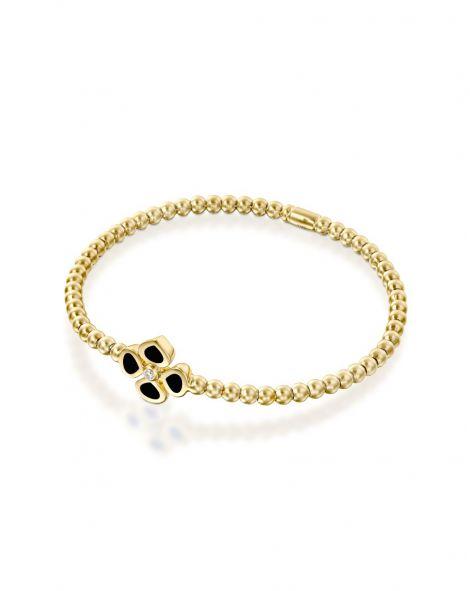 Violetto Black Enamel Bracelet