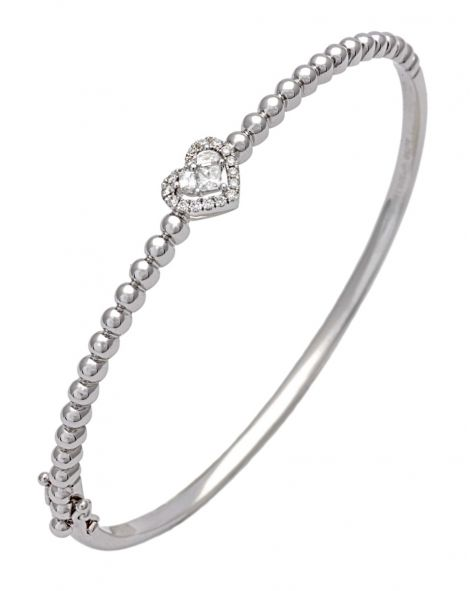 Lady Heart Bangle Bracelet