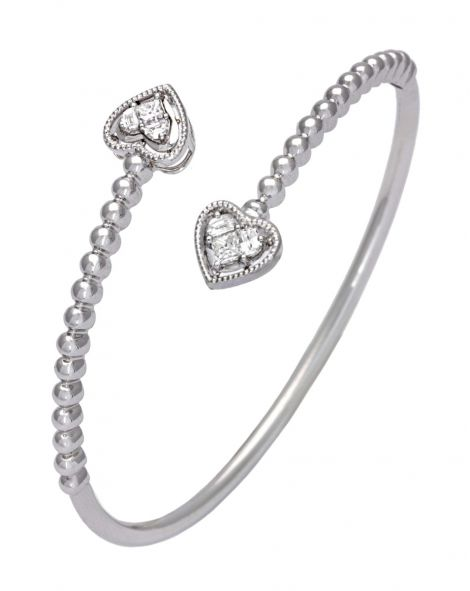 Lady Heart Flexible Bangle
