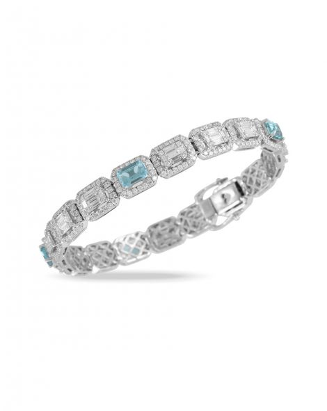 Doves Aquamarine Bracelet