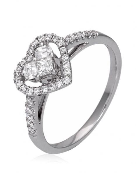 Lady Heart Diamonds Ring