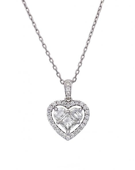 Lady Heart Diamonds Necklace